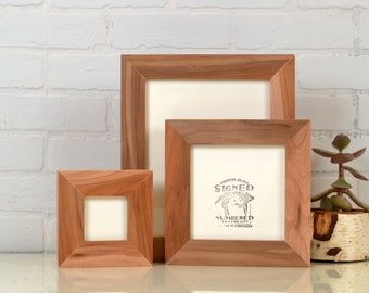 "Solid Natural WILLOW Picture Frame 1.5"" Wide Style Choose your small frame size: 3x3, 2x6, 3.5x5, 4x5, 4x6, 5x5, 5x7, 6x6, 6x8, 7x7, 4x10"""