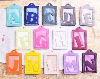 Ho-Ho-Sew Genuine Leather Alphabet Initial Badge ID Card Holder Card Case DIY Kit