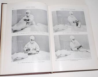 Antique 1918 book PRINCIPLES oF SURGICAL NURSING • A Guide to Modern Surgical Technic by Fredierick C. Warnshuis