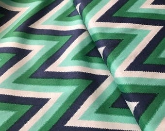 last call Color Me Happy from V and Co and Moda fabrics, Floral Ikat Chevron Emerald, 1/2 yard total