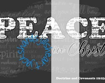 2018 LDS youth theme Peace in Christ all sizes