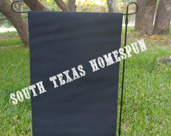 Black Canvas Garden Flag, Blank and  ready to decorate! Single layered flag ,Vinyl or Paint