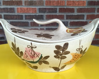 Red Wing Pottery Tampico Futura Covered Casserole Dish, Covered Vegetable Bowl