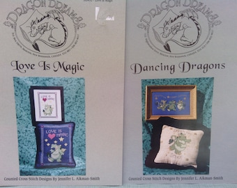 TWO(2) Dragon Dreams Cross Stitch Charts