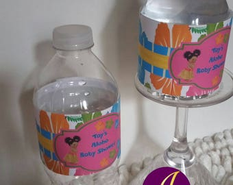 Aloha water bottle labels  ONLY