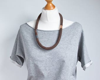 MODERN necklace, statement necklace, necklace, MINIMALIST necklace, simple necklaces, gift idea, gift for mum, textile necklace