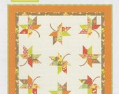 SALE Mini Twirl Quilt Pattern - Fig Tree & Co. - Joanna Figueroa - Charm Pack Friendly Quilt Pattern - Autumn Leaves Fall Wall Hanging Patte
