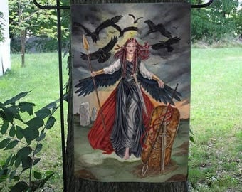 RESERVED LISTING  for Sharlene, The Morrigan and Hecate Garden Flags