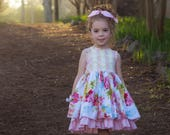 Lucerne Dress PDF Sewing Pattern, including sizes 12 months - 14 years, Girls Dress Pattern