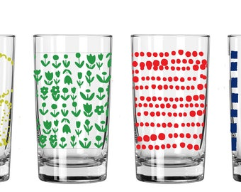 NEW Juice Glasses, 1 Set of 4 (you choose your set), Available to ship March 1st, 2018