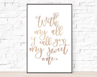 Phish Song Lyrics  Poster - My Sweet One