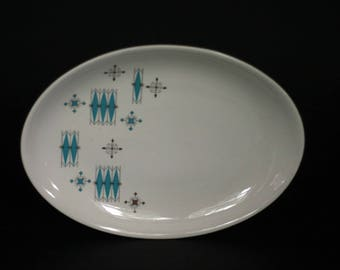 vintage atomic oval serving platter salem china