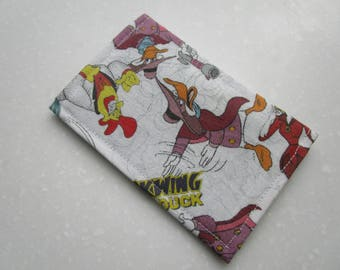 Darkwing Duck, Dark Wing Duck, Drake Mallard, Duck Superhero, Duck Tales, The Shadow, McQuack, Credit Card Wallet, Business Card Wallet