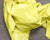 6-865.  Daffodil Yellow Leather Cowhide