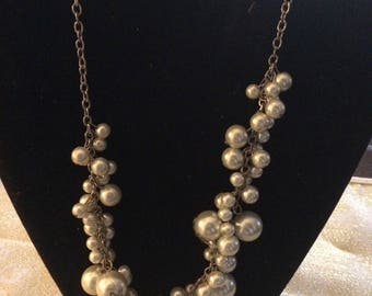 Nice Pearl Cluster Necklace