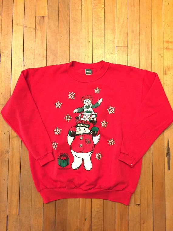 Raggedy Ann and Andy Ugly Xmas Sweatshirt