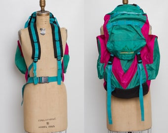 vintage 80s 90s hiking camping backpack
