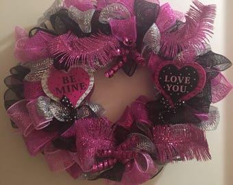 Valentines Day Wreath/Valentine's Day Wreath for Front Door/Valentine's Day Decor/Front Door Wreath
