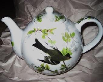 Audubon porcelain teapot-mint Wood Peewee-sale