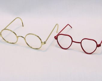 """Eye Glasses for 18"""" Dolls like American Girl Doll and Sasha Doll / Doll Accessories / Doll Fashion / Spectacles / Framed / Rimmed Glasses"""