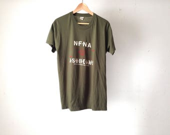 vintage MASH style NFNA air journal ASHBEAMS faded thin soft vintage 80s t-shirt