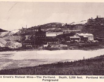 Cripple Creek, CO Real Photo Postcard, Vintage RPPC Cripple Creek's Richest Mine from Colorado