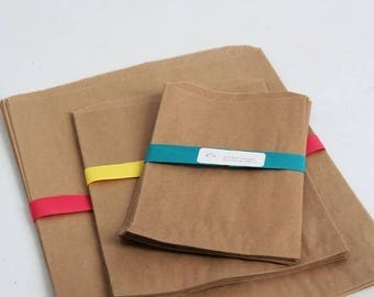 ON SALE Kraft Paper Bag Assortment Pack Lot of 120