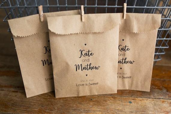Wedding Favor Bags -  4x6 inch Kraft Paper Rustic Bags