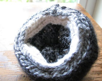 Hematite crystal | fake geode | hand knitted gifts | knitted decor | gift ideas | gray crystal