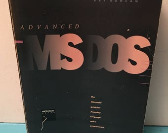 Advanced MS DOS Ray Duncan 1986 UNDER 20
