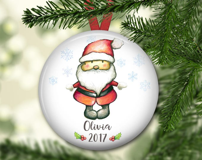 personalized Christmas ornaments for kids - baby's first christmas ornament - santa clause decorations - ORN-PERS-13