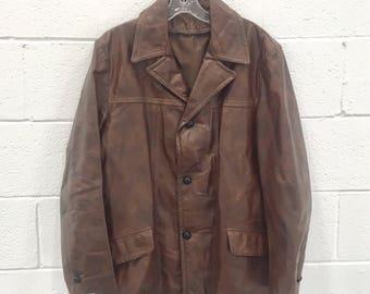 Vintage Men's 44 Large Leather Jacket