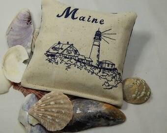 Balsam Pillow,  Portland Lighthouse, Nautical, Maine Organic Balsam, Maine