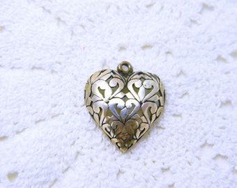 Sterling Silver Heart Pendant - Jezlaine