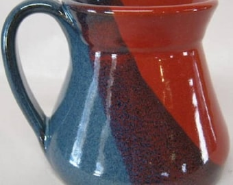 Handmade Pottery Mug 16 Ounces, Large cofffee cup, fits Keurig