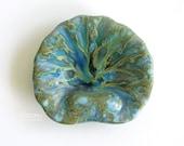 Monterey Jade California Pottery Shell Soap Tray or Trinket Dish