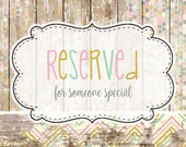 Reserved for Janica
