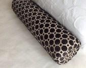 custom order for additional cost on previous order of two Raised Velvet in black bolster pillow 6x28