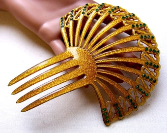 Art Deco hair comb Spanish style confetti Lucite hair accessory headdress headpiece decorative comb hair ornament