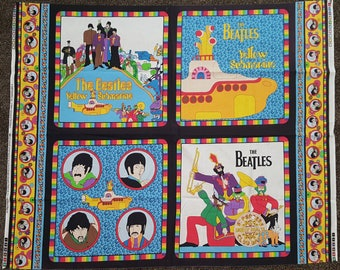 Beatles Yellow Submarine All You Need Is Love, Fabric Panel, Rare, Out of Print, Yard, BTY, By the Yard, Material
