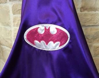 Batgirl  Cape - Purple