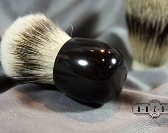 African Blackwood Compact Shaving Brush Badger Hair Choice Brush Father's Day Gift Anniversary Wet Shaving Ready2Ship