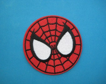 CUTE~ Iron-on Embroidered Patch Spider-man face 3 inch