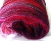 Scary Cherry Batts for Weaving Rainbow