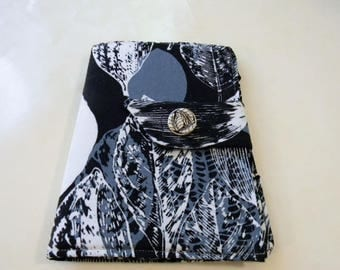 Black and Gray Leaves Batik Kindle Fire/Keyboard Cover