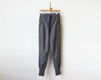 Gray Cargo Pants   Skinny Jogger Style   Heather Gray Sweats   Cargo Pockets   Relaxed Fit   Cotton Sweats   Athleisure Workout Pants