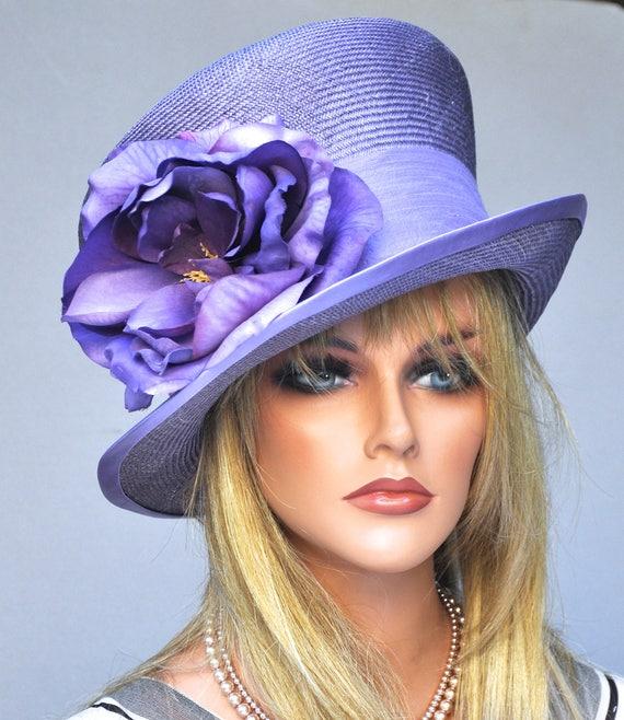 Wedding Hat, Kentucky Derby Hat, Ascot hat, Ladies Purple Hat