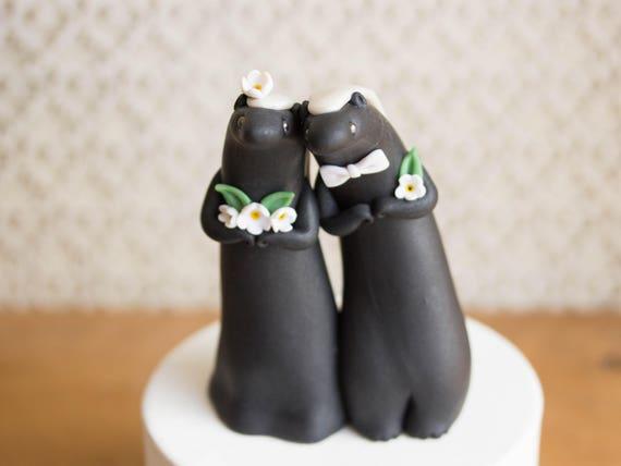 Honey Badger Wedding Cake Topper by Bonjour Poupette