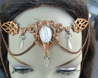 Copper Circlet of the Ice Priestess celtic elven druid goddess bridal cosplay