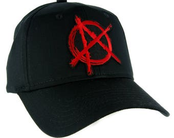 Red Anarchy Sign Hat Baseball Cap Alternative Clothing Punk Rock - YDS-EMPA-054-RED-Cap